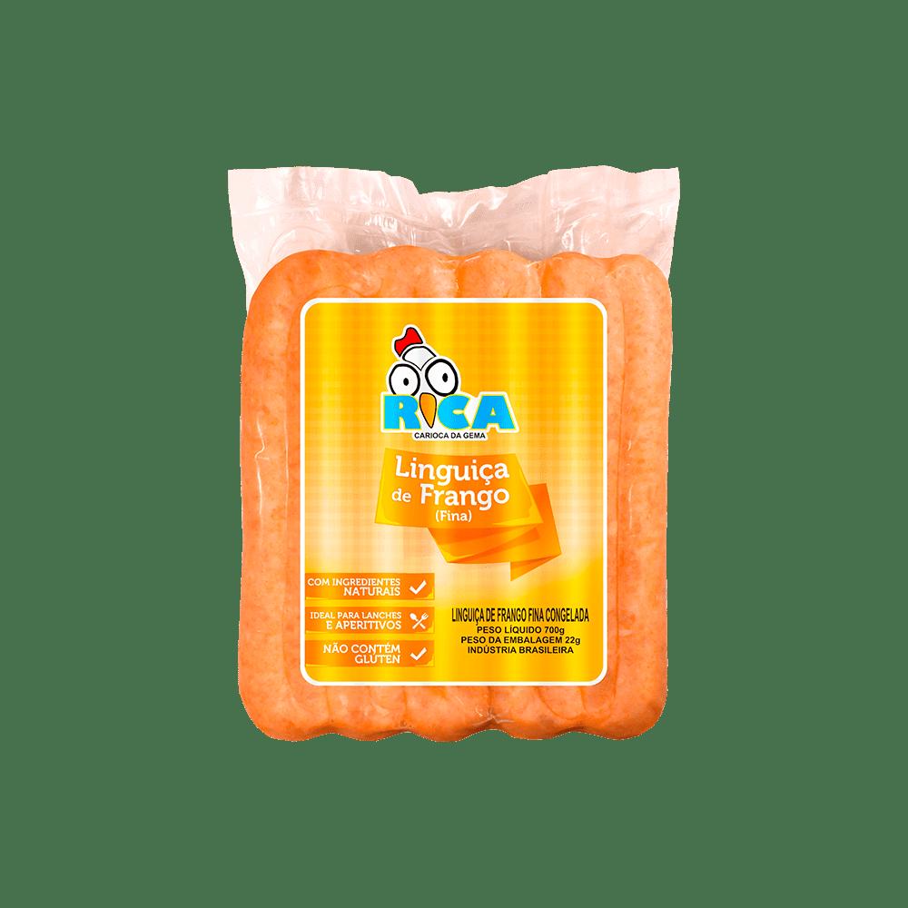 Linguiça de Frango Fina Rica Congelada - 700g