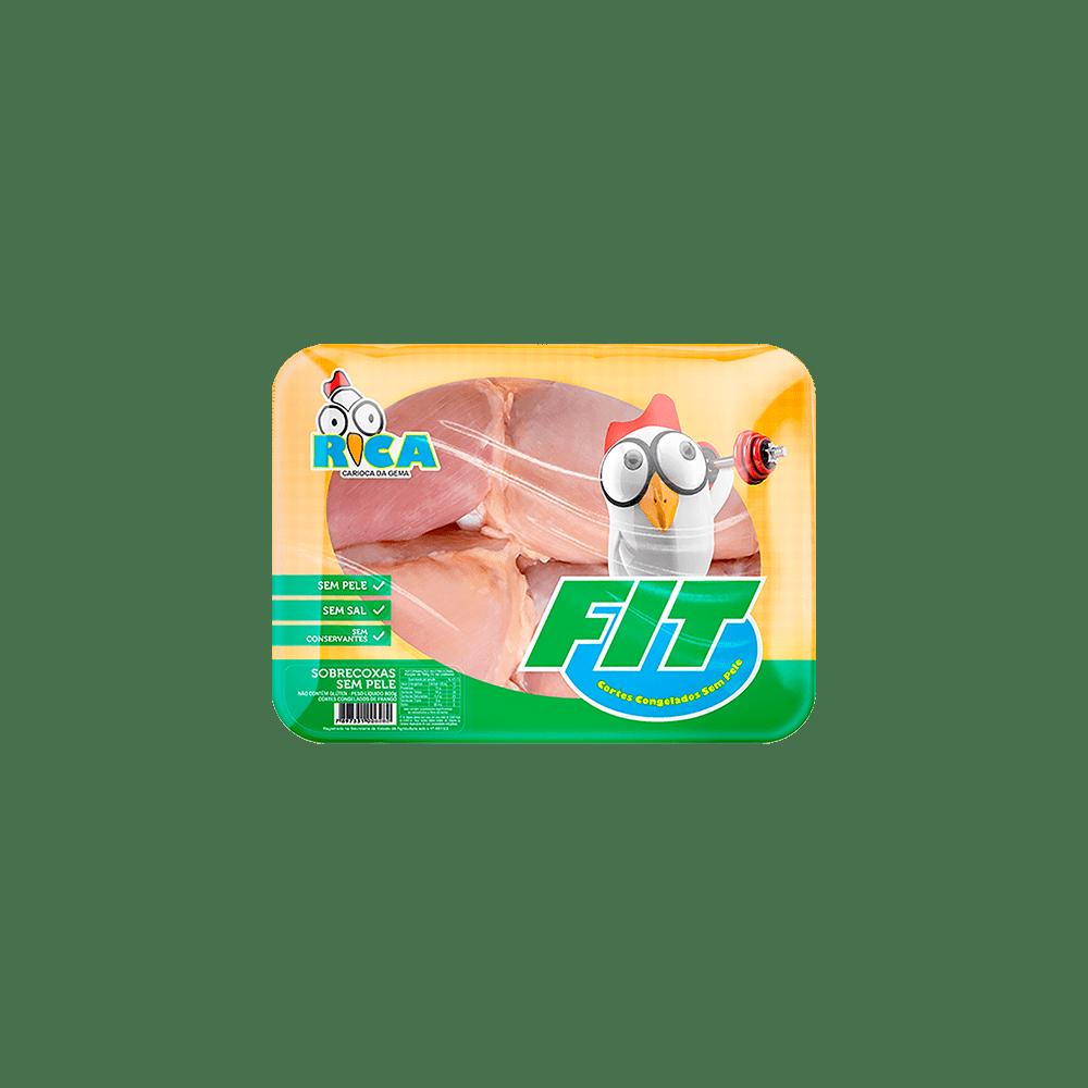 Sobrecoxa de Frango Sem Pele Congelada Fit Rica - 800g