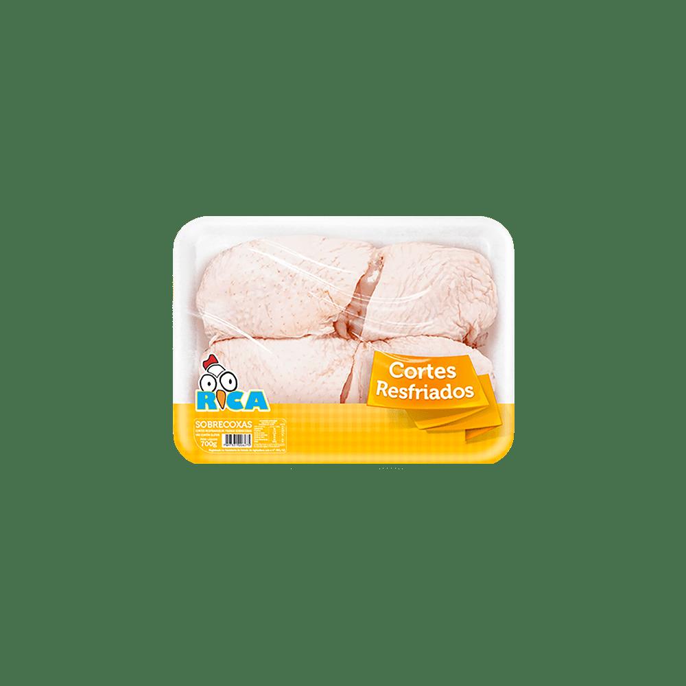 Sobrecoxa de Frango Resfriada Rica Bandeja - 700g