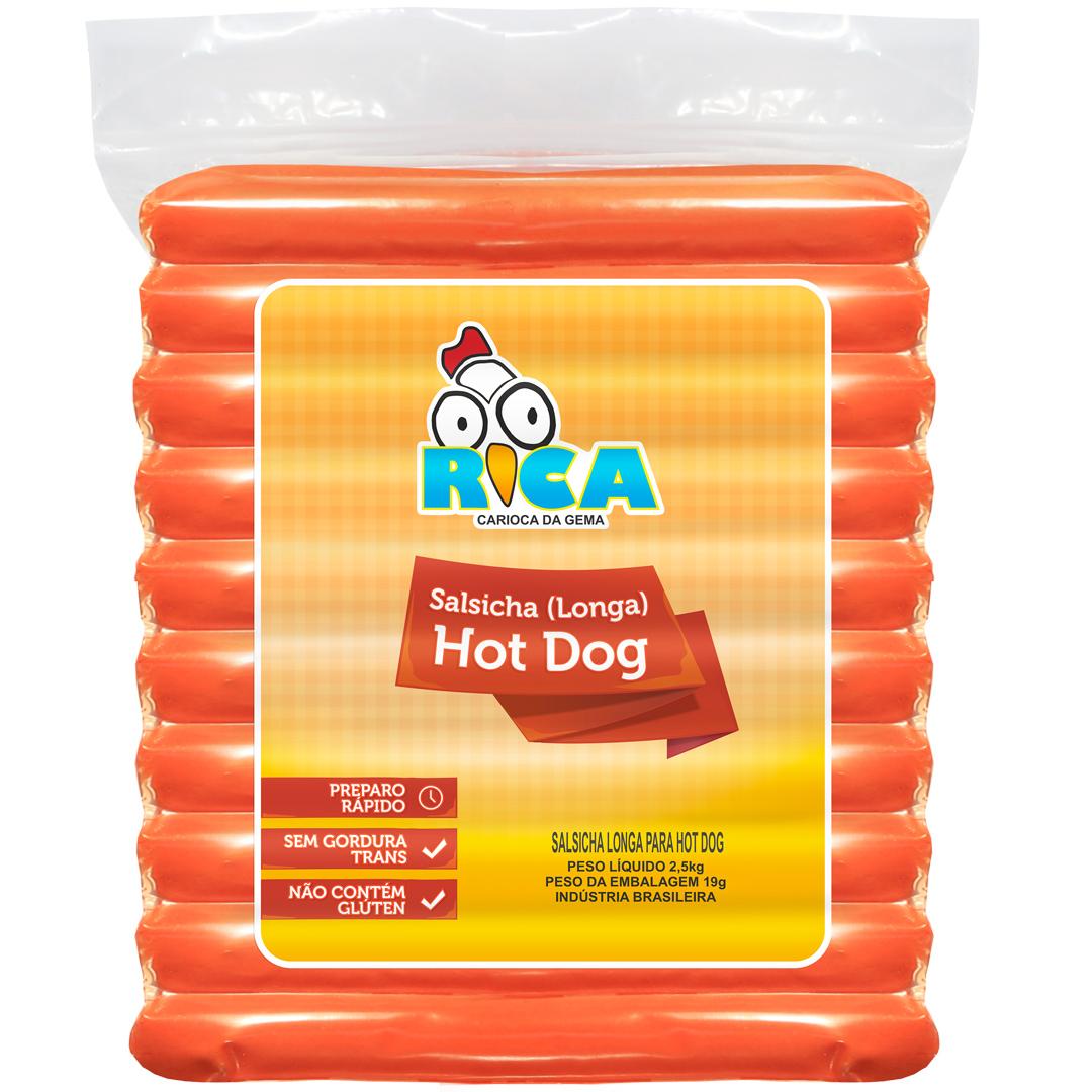 Salsicha para Hot Dog Longa Rica - 2,5kg