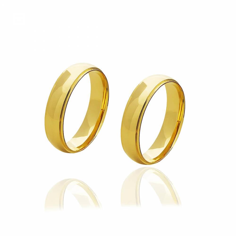 Par de Alianças de Ouro Diana de 5mm e 4 g