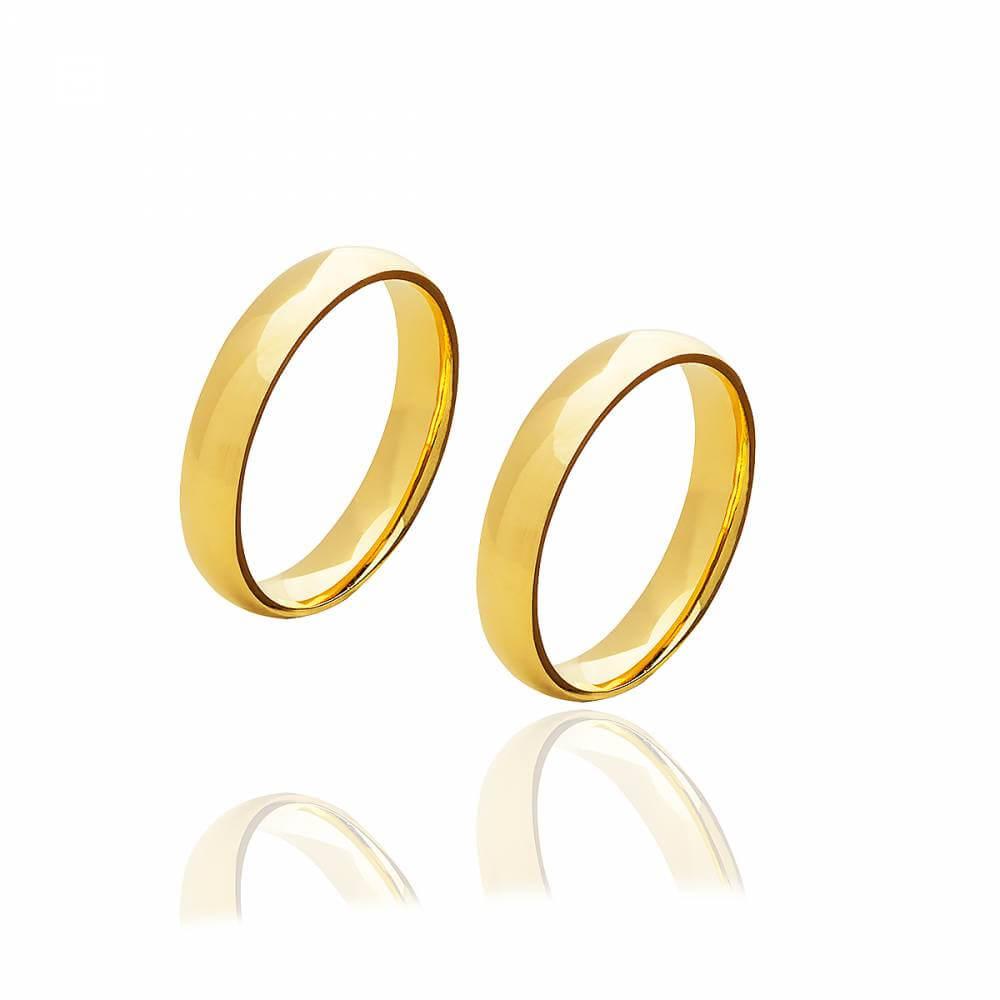 Par de alianças de ouro em 3mm e 4 gramas