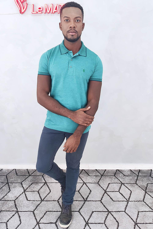 Camisa Polo Maquinetada - Verde
