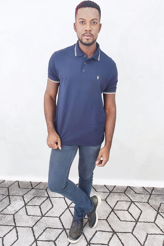 Camisa Polo Piquet Gold - Azul Marinho