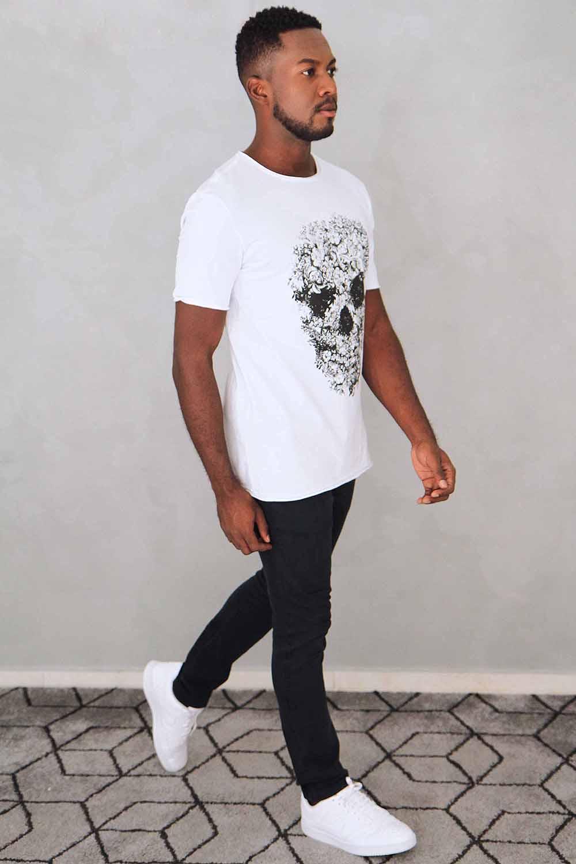 Camiseta Caveira Flowers