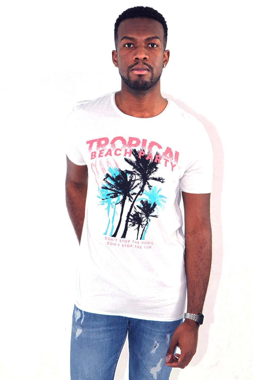 Camiseta Tropical Branca