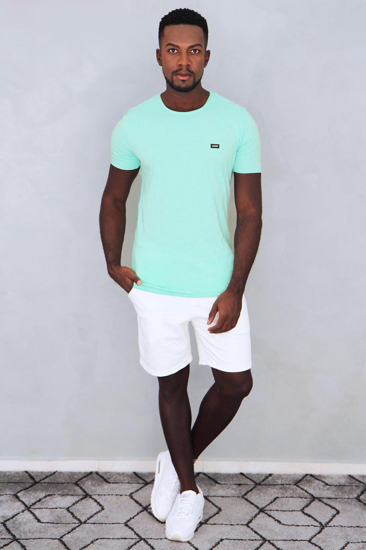 Camiseta Verde Com Etiqueta