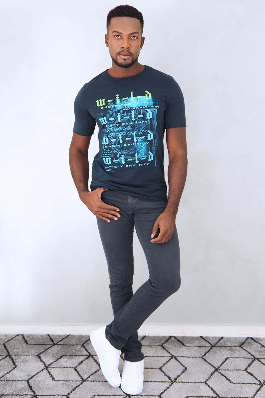 Camiseta Wild Azul Marinho