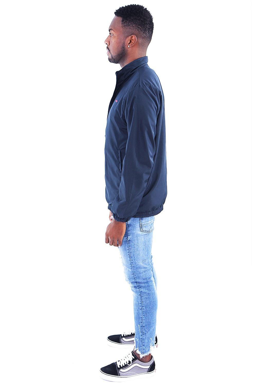 Jaqueta Corta Vento Azul Marinho Básica - Masculino