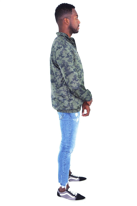 Jaqueta Corta Vento Camuflada- Masculina