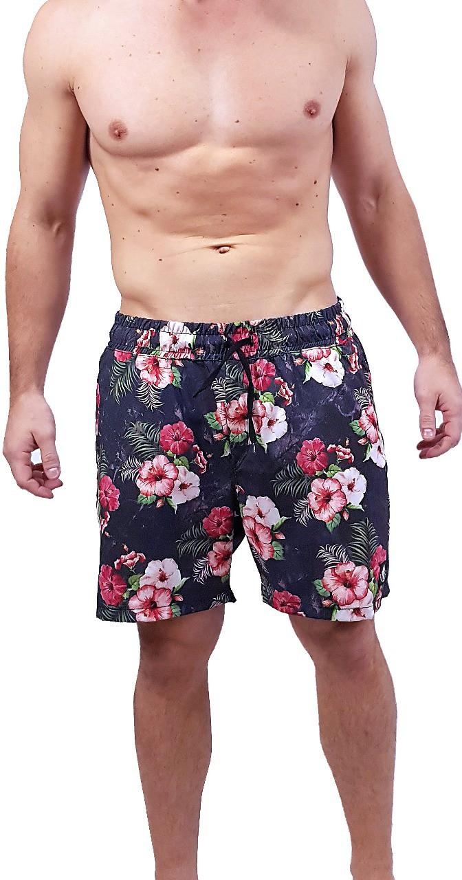 Swim Shorts Floral Marmorizado Masculino