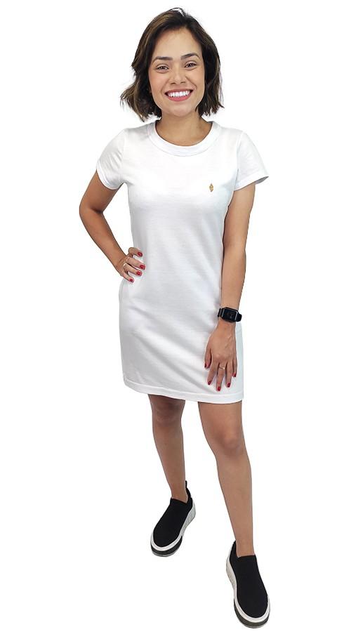 Vestido de Moletinho Branco