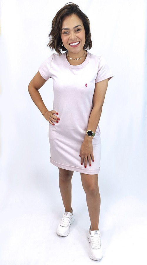 Vestido de Moletinho Rosê