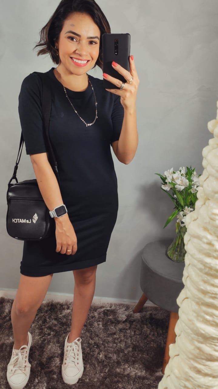 Vestido Maiê - Moletinho Preto