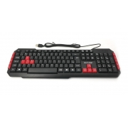 TECLADO MULTIMIDIA GAMER RED KEYS USB