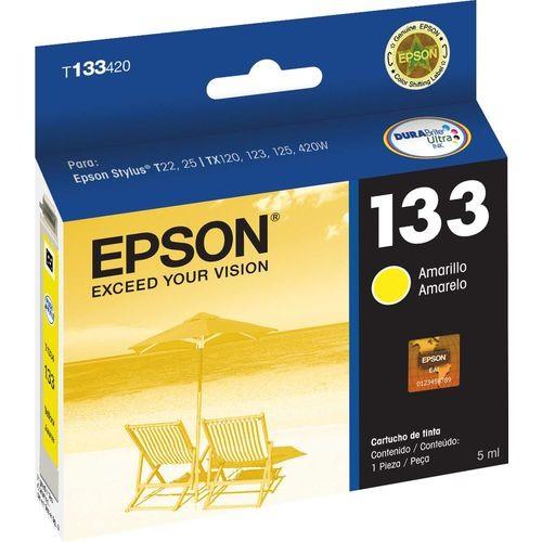 CARTUCHO EPSON 133 AMARELO T25 T133420BR