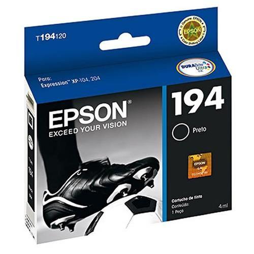 CARTUCHO EPSON 194 PRETO XP204 T194120BR