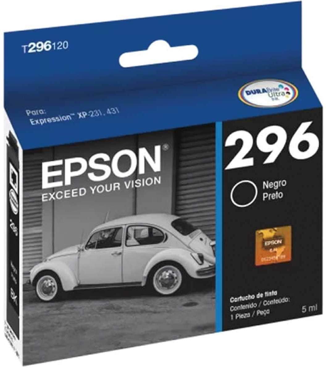 CARTUCHO EPSON 296 PRETO T296120 BR