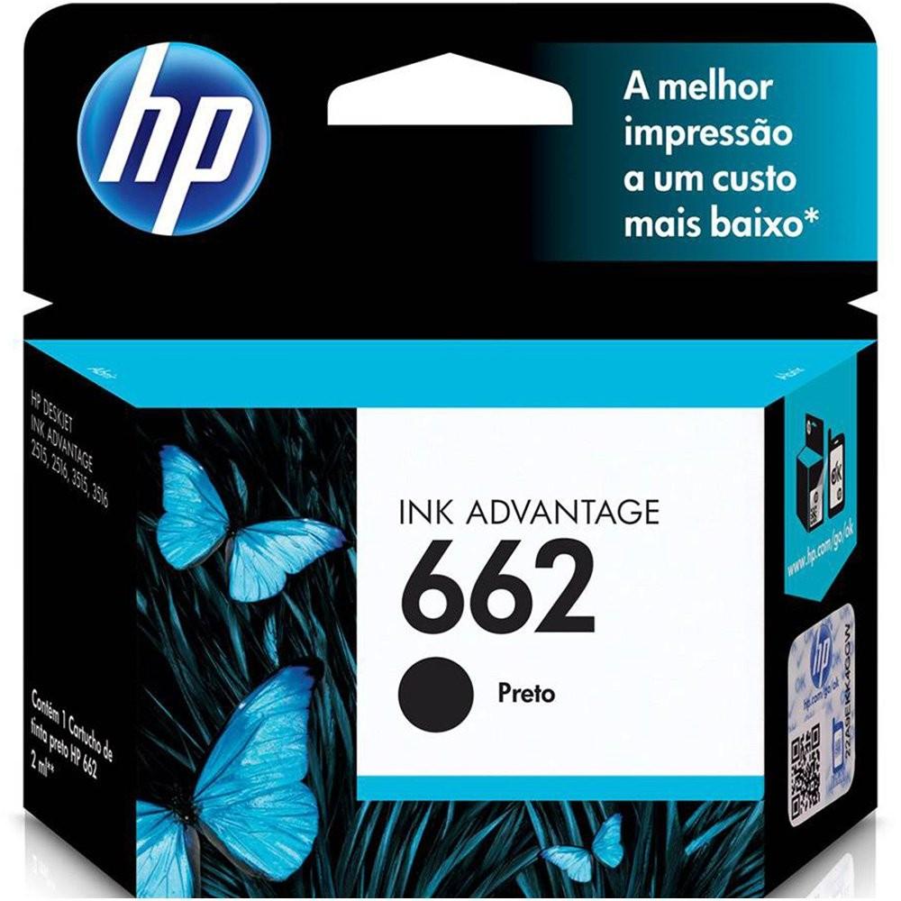 CARTUCHO HP 662 PRETO DJ2516  CZ103AB