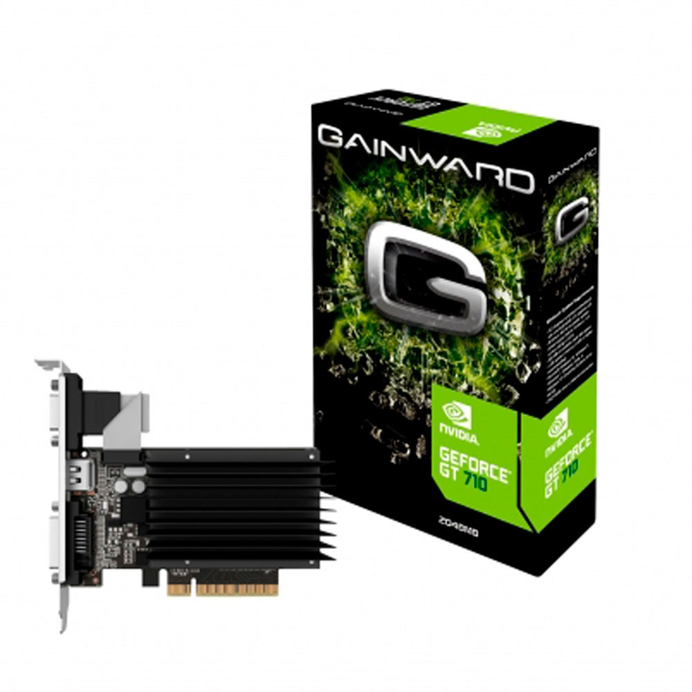 GPU NV GT 710 2GB DDR3 64BITS GAINWARD NEAT7100HD4