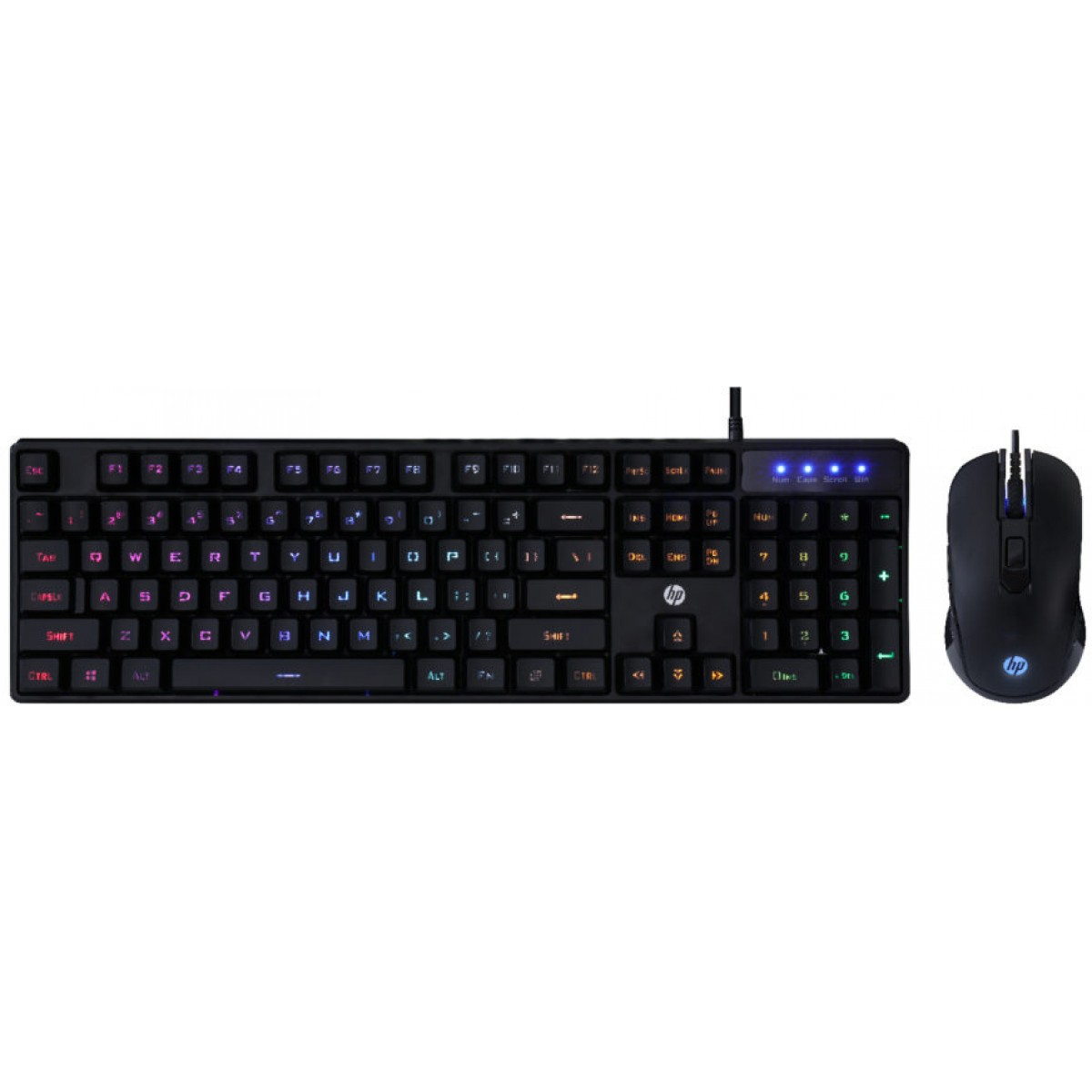 KIT TECL+MOUSE USB GAMING MEMB KM200 PTO HP
