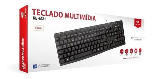 TECL USB MULT KB-M31BK PRETO C3T