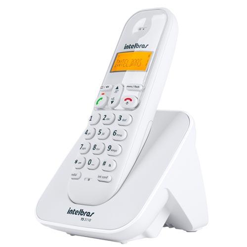 Telefone Fixo Intelbras s/Fio TS3110 Branco