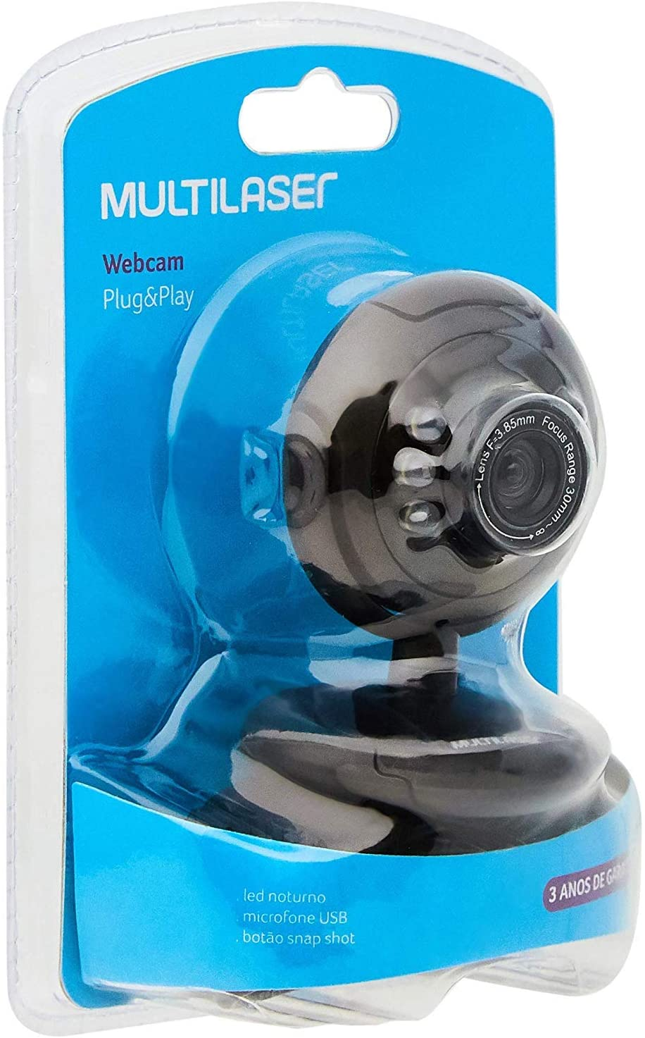 WEBCAM PLUGEPLAY 16MP NIGHTVISION MIC USB PRETO