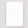 Caderno Pautado 18x25cm - Escolha a Capa