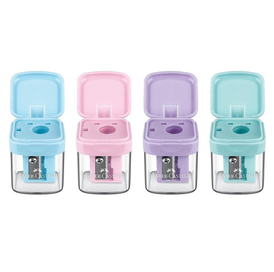 Apontador com Depósito Minibox Pastel Faber-Castell UN