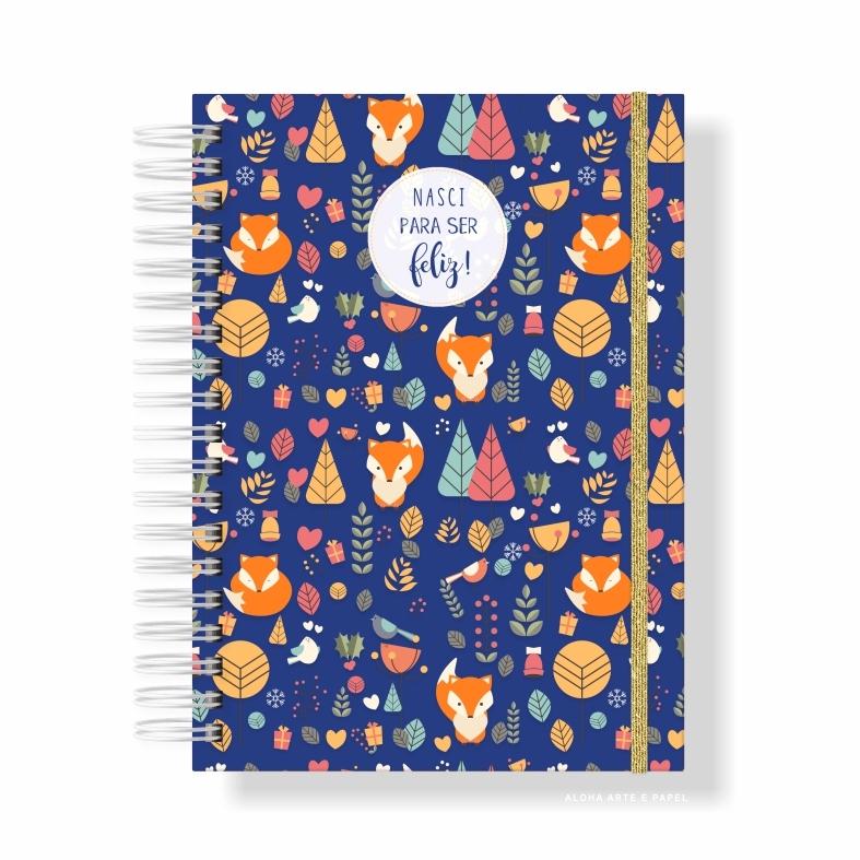 Caderno A5 Pautado Raposinhas