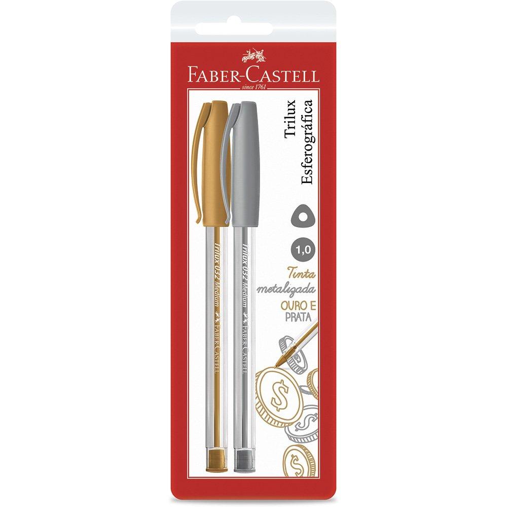 Caneta Esferográfica Trilux 1.0mm Faber-Castell 2 UN