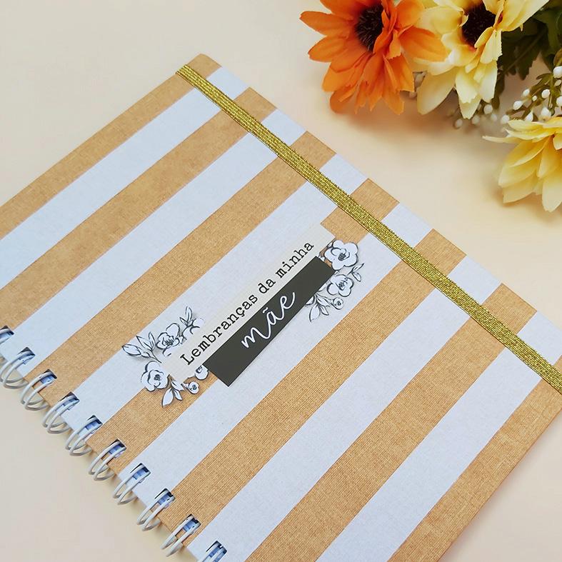 Caderno de Lembranças e Cartão Dia das Mães