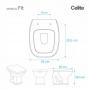 Assento Sanitário Celite Fit PP Plus Soft Close Branco