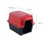 Casinha Plástica Astra 48x38x36 Vermelha