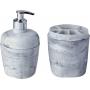 Kit Acessórios Banheiro Astra KBB1/2 Branco Marmorizado