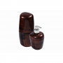 Kit Acessórios Banheiro Astra KBB1/2 Marrom Marmorizado