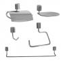 Kit Acessórios Banheiro Citta 5 Peças Steel Design
