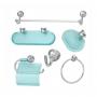 Kit Acessórios Banheiro Novo Sol Bello Bagno 6 Peças Verde