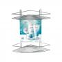 Porta Shampoo Cantoneira Dupla Com Ventosa Arthi