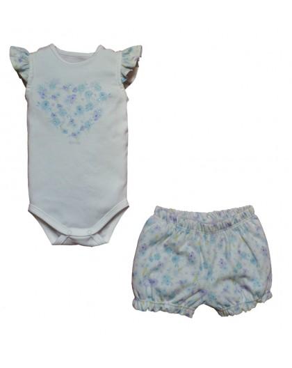 Conjunto Body e Shorts Cassis Azul