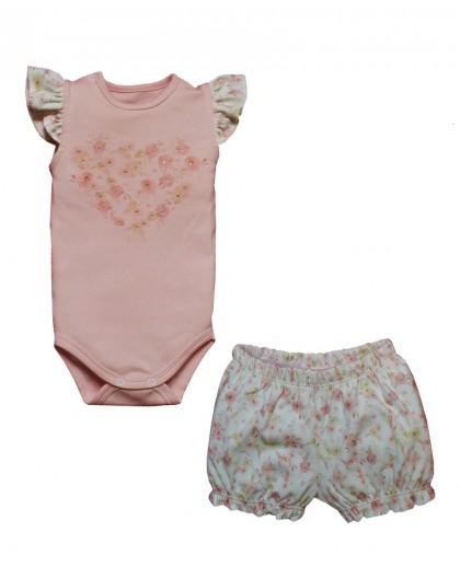Conjunto Body e Shorts Cassis Rosa