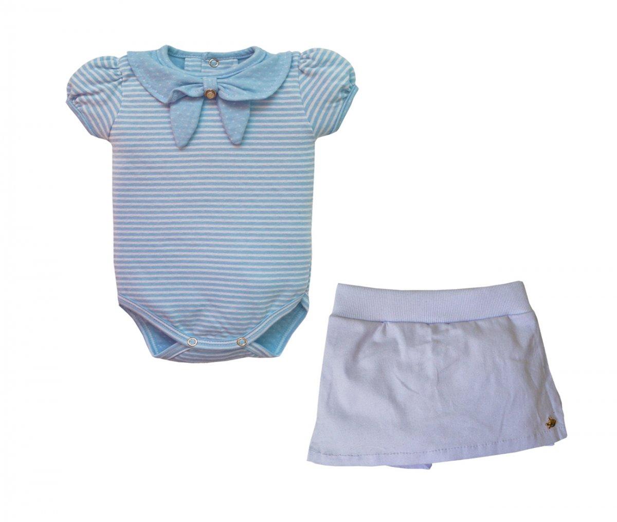 Conjunto Body e Shorts Saia Greece