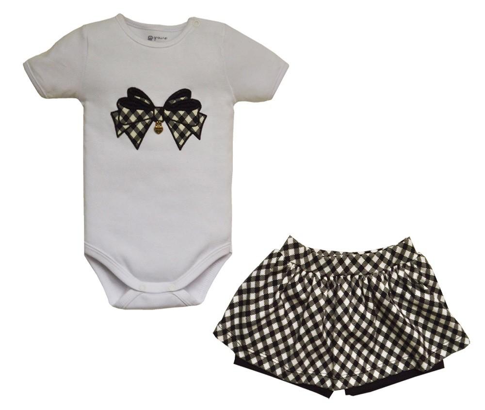 Conjunto Body e Shorts Saia Menina Capri