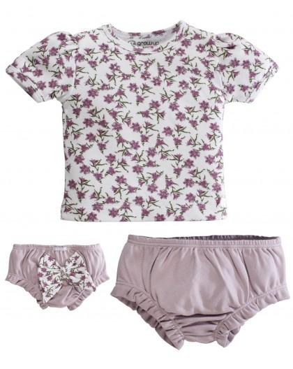 Conjunto Florence Camiseta e Cobre Fralda