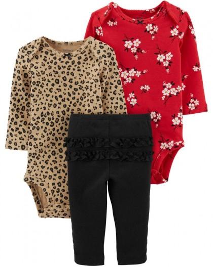 Conjunto Leopardo e Floral