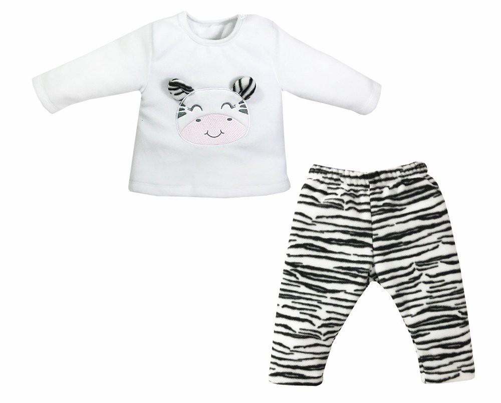 Conjunto Longo Pijama Microsoft Zebrinha Dreams