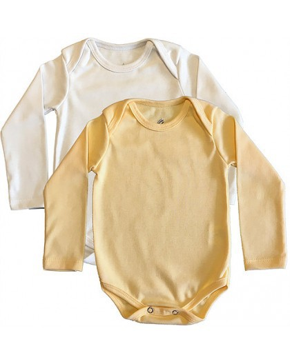 Kit Body Branco e Amarelo