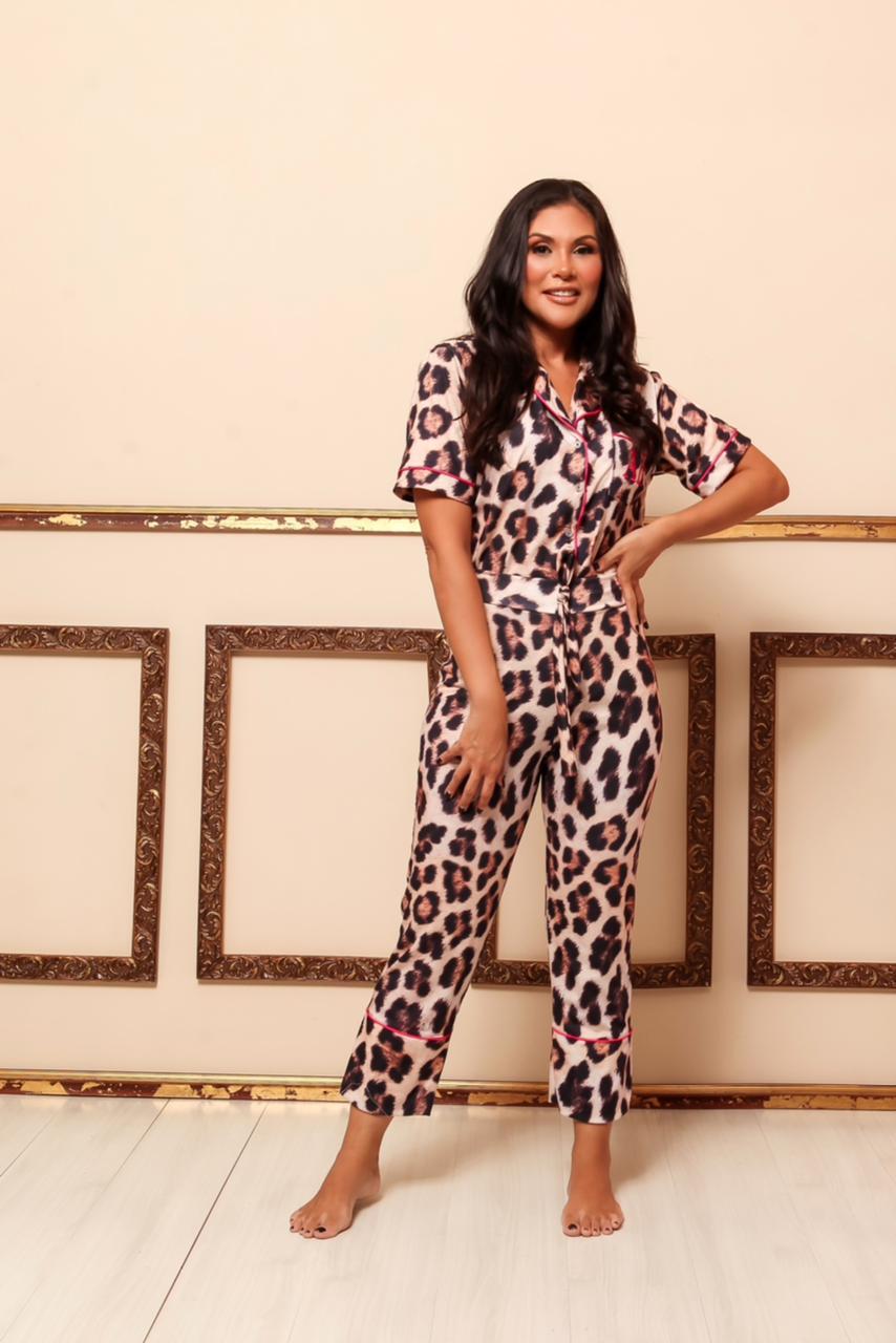Pijama Homewear Animal Print Feminino