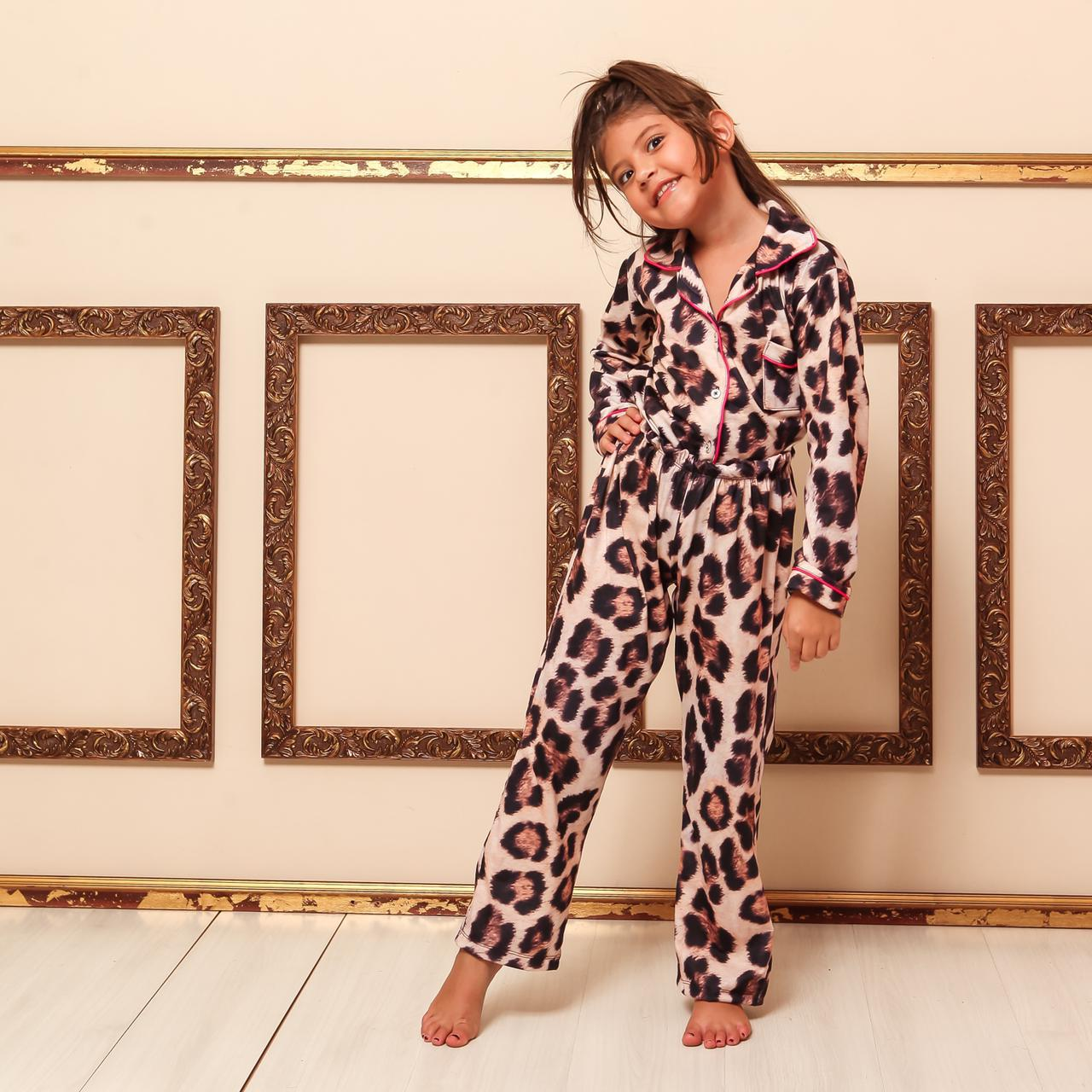 Pijama Homewear Animal Print Infantil